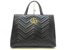 GUCCI(グッチ)のGGマーモント キルティング トップハンドルバッグ