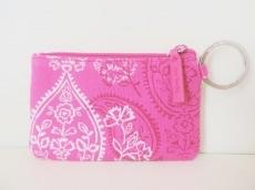 ベラブラッドリー 小物入れ美品  ピンク×白×ボルドー パスケース