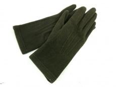 agnes b(アニエスベー) 手袋 レディース カーキ ポリエステル