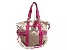 COACH(コーチ)のポピーシグネチャーサティーンスポットライトのハンドバッグ