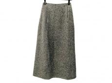 ランバン ロングスカート サイズ38 M レディース美品  グレー×黒