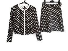 ロイスクレヨン スカートスーツ サイズM レディース美品  黒×白