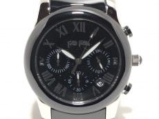 フォリフォリ 腕時計美品  WF0T061BE レディース クロノグラフ 黒