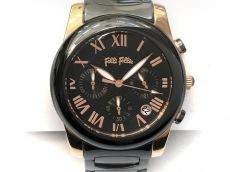 フォリフォリ 腕時計美品  WF0R061BE レディース クロノグラフ 黒