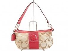 COACH(コーチ)のシグネチャーストライプデミクロスボディのハンドバッグ
