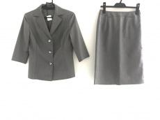 ニューヨーカー スカートスーツ サイズ11 M レディース グレー