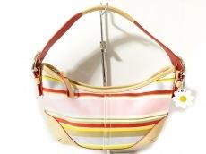 COACH(コーチ)のツイルストライプスモールバッグのハンドバッグ