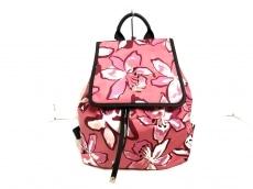 ケイトスペード リュックサック PXRU6735 ピンク×黒×マルチ 花柄