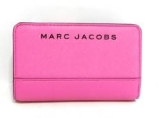 マークジェイコブス 2つ折り財布美品  ピンク×黒 レザー