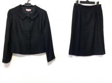 ユキトリイ スカートスーツ サイズ11 M レディース美品  黒