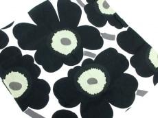 marimekko(マリメッコ) 小物 白×黒 フラワー コットン