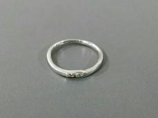 クレージュ リング美品  K10WG×ダイヤモンド 0.03カラット