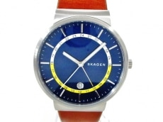 SKAGEN(スカーゲン) 腕時計美品  SKW6253 メンズ 革ベルト