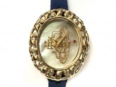 ヴィヴィアン 腕時計美品  レディース アイボリー×ゴールド