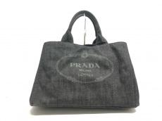 PRADA(プラダ) トートバッグ美品  CANAPA B2642B 黒 デニム