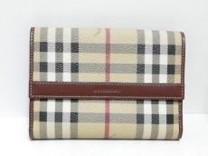 バーバリーロンドンのWホック財布
