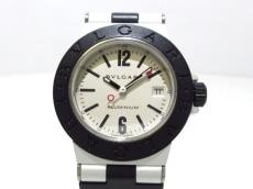 ブルガリ 腕時計美品  AL 29 TA レディース 革ベルト アイボリー