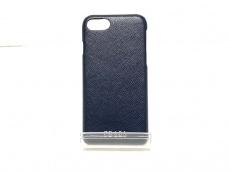 プラダ 携帯電話ケース - ダークネイビー iPhoneケース レザー
