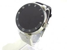 LOUIS VUITTON(ルイヴィトン)/腕時計/タンブールホライゾン モノグラム エクリプス V2 (TAMBOUR HORIZON MONOGRAM ECLIPSE42 )/型番:QA050Z/黒×グレー/ノワールLVストラップ