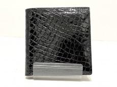 クロコダイルスキンの2つ折り財布