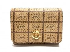 キューポットの2つ折り財布