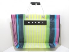 マルニのフラワーカフェショッピングトートバッグ