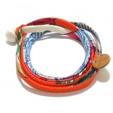 エルメスのSilk twill Double bracelet