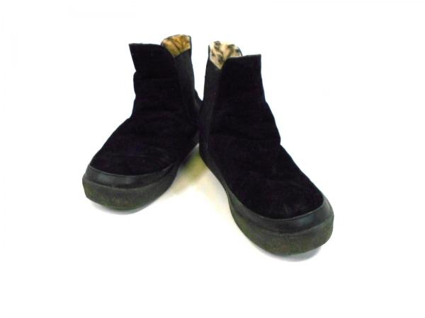 グローバルワーク ショートブーツ S 黒