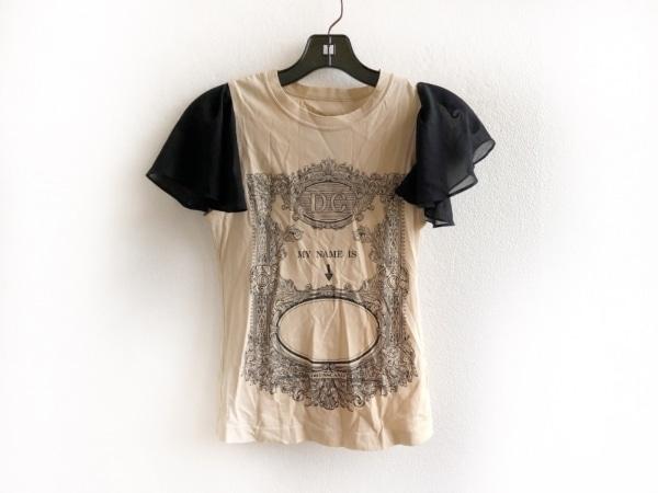 DRESS CAMP(ドレスキャンプ) 半袖Tシャツ サイズ38 M レディース美品  ベージュ×黒