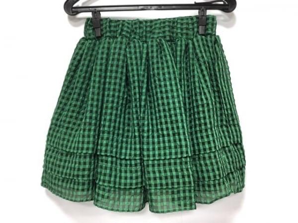 ビーラブバイドロシーズ スカート サイズ1 S レディース美品  グリーン×黒