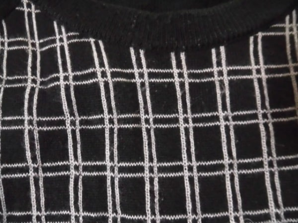 オペーク 長袖セーター サイズ40/L 黒×白