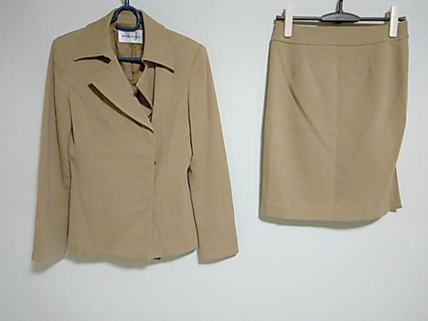 【中古】 ホワイトジョーラ White Joola スカートスーツ サイズ11 M レディース ベージュ