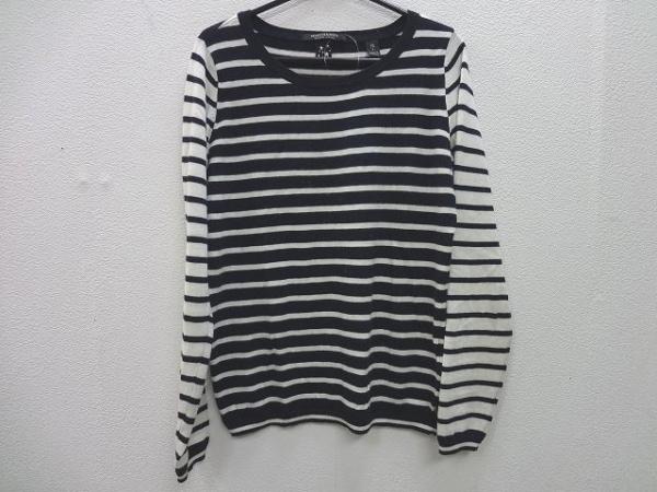スコッチアンドソーダ 長袖セーター サイズ1 S レディース美品  ネイビー×白