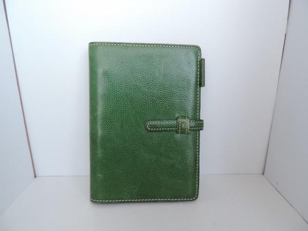 アシュフォード 手帳 グリーン レザー