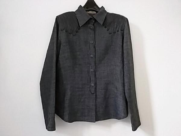 ユキコハナイ 長袖シャツブラウス サイズ10 L レディース美品  グレー×黒