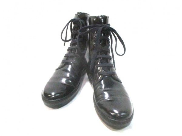 ジェイピートッズ ブーツ 36 1/2 黒 レザー