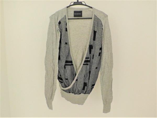 ニコラアンドレアタラリス 長袖セーター サイズXS メンズ ライトグレー×黒