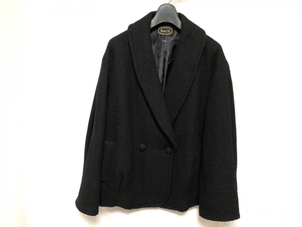 Broderie&Co(ブロードゥリーアンドコー) コート サイズ38 M レディース 黒 ショート丈