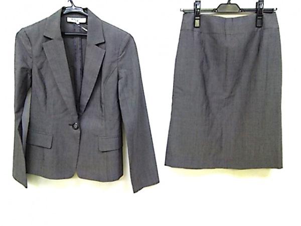 ナチュラルビューティー ベーシック スカートスーツ サイズM レディース ダークグレー