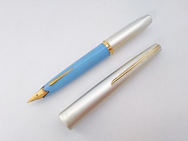 プラチナ 万年筆 ゴールド×ライトブルー