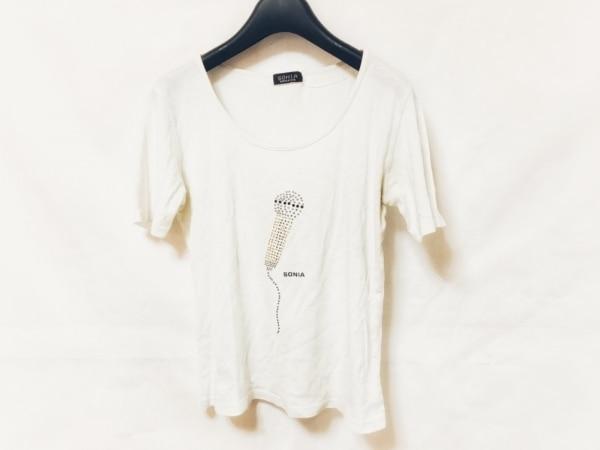 SONIARYKIEL(ソニアリキエル) 半袖Tシャツ レディース 白×黒 SONIA 1