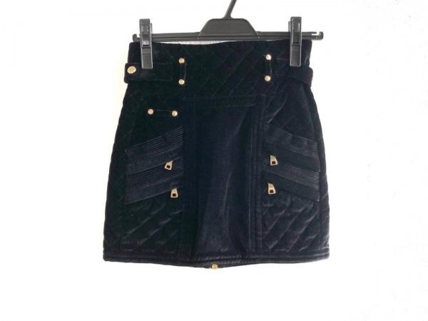 BALMAIN(バルマン) 巻きスカート サイズ36 S レディース美品  4512 101V 黒