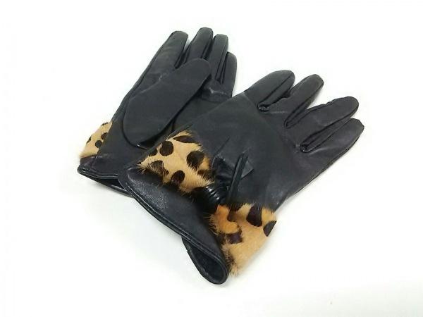 ルヴェルニ 手袋 レディース リボン/豹柄