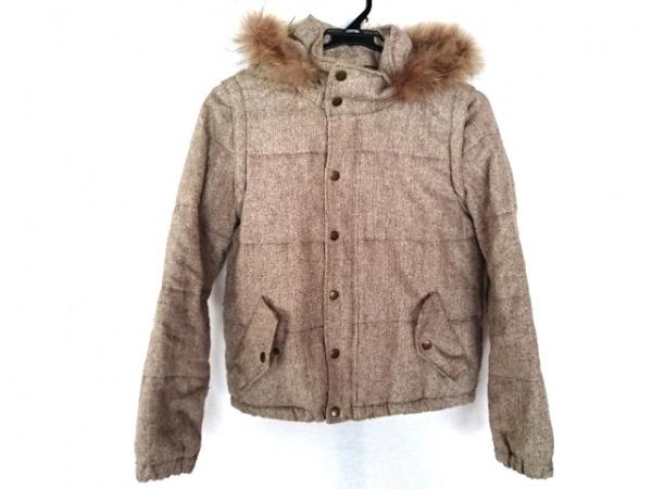 w closet(ダブルクローゼット) ダウンジャケット サイズF レディース ライトブラウン