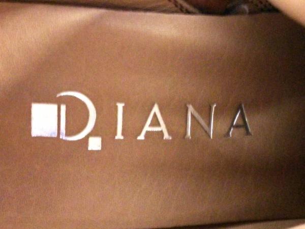 DIANA(ダイアナ) ロングブーツ 22 レディース ブラウン レザー 6