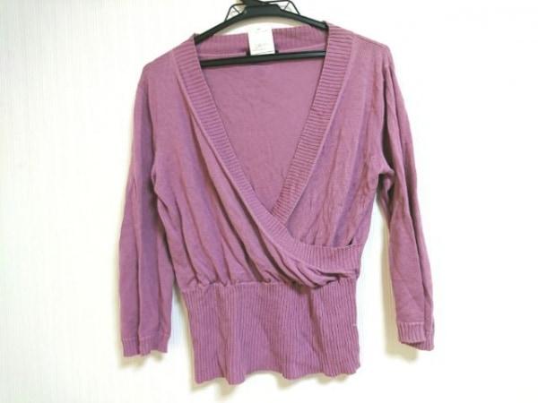 ATSUROTAYAMA(アツロウタヤマ) 七分袖セーター サイズ36(EUR) M レディース パープル