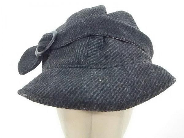 ユージニアキム 帽子 ダークグレー ウール