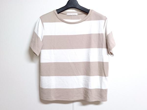 センスオブプレイス 半袖セーター サイズfree F レディース ブラウン×アイボリー