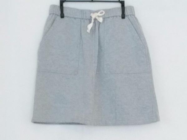 エンジニアードガーメンツ ミニスカート サイズ1 S レディース美品  ライトグレー