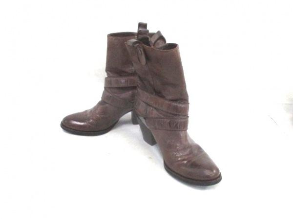 パークマンション ブーツ 37 1/2 レザー